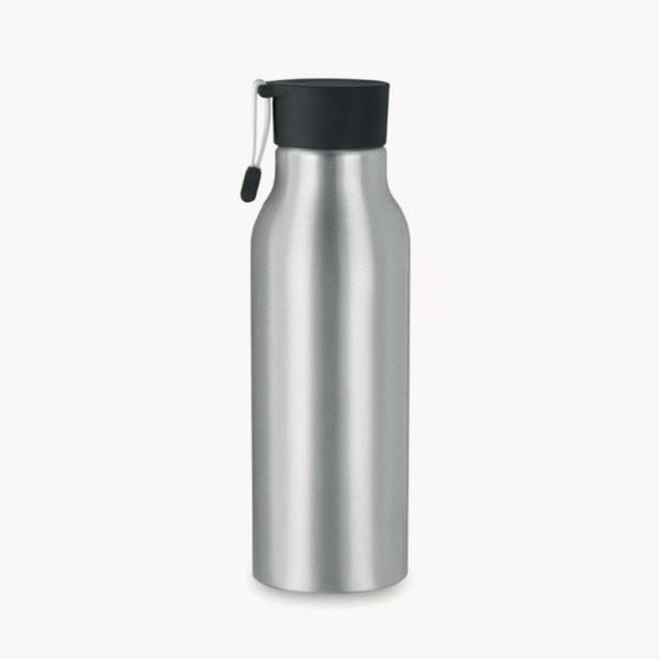 botella-aluminio-pared-simple-tapon-negro