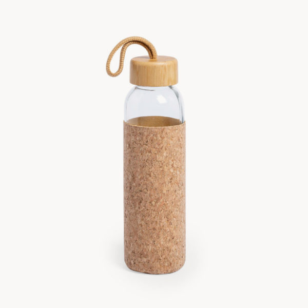 botella-cristal-funda-corcho-natural