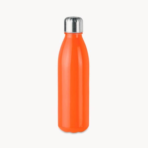 botella-cristal-tapon-acero-inoxidable-650ml-naranja