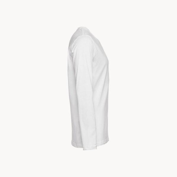 camiseta-manga-larga-blanca-algodon-hombre-perfil