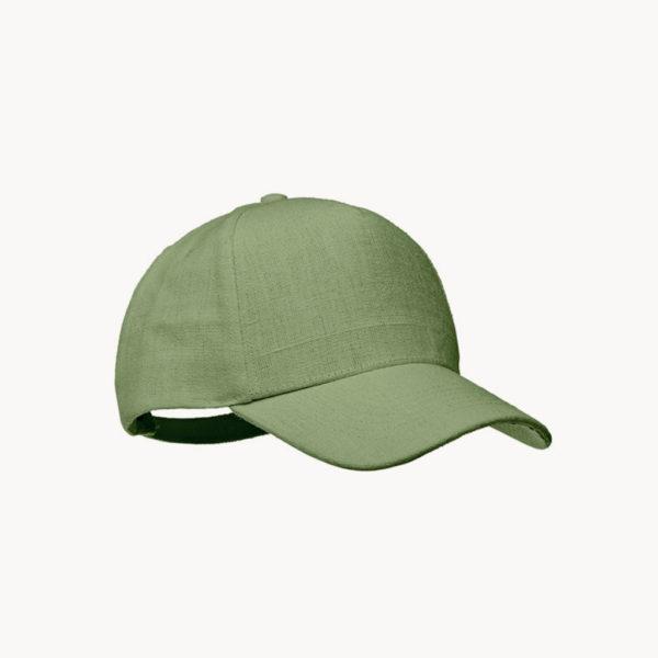 gorra-fibra-cañamo-natural-verde