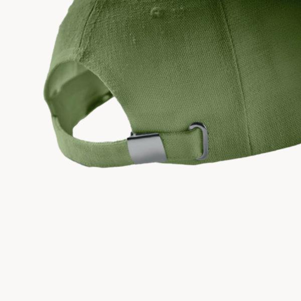 gorra-fibra-cañamo-natural-verde-detalle
