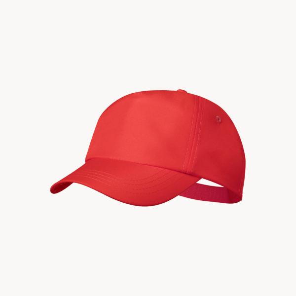 gorra-plastico-reciclado-rojo