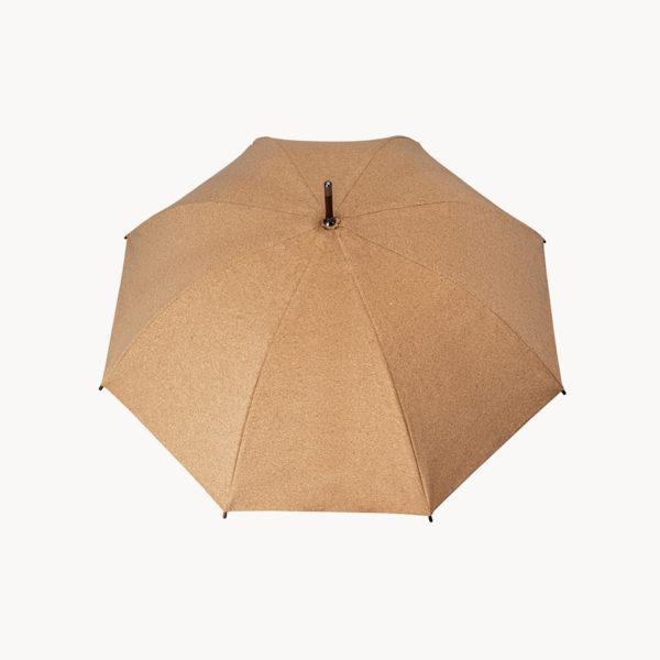 paraguas-corcho-mango-madera-abierto