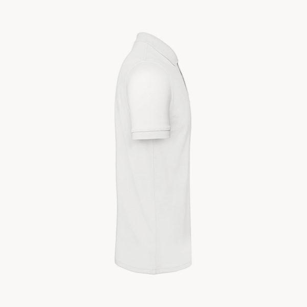 polo-algodon-organico-hombre-blanco-perfil