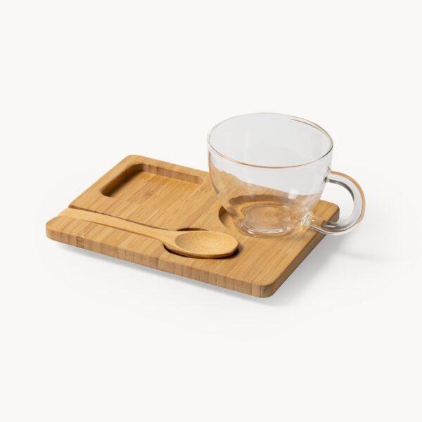 set-taza-cristal-bandeja-cuchara-bambu