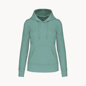 sudadera-sostenible-capucha-mujer-verde-menta