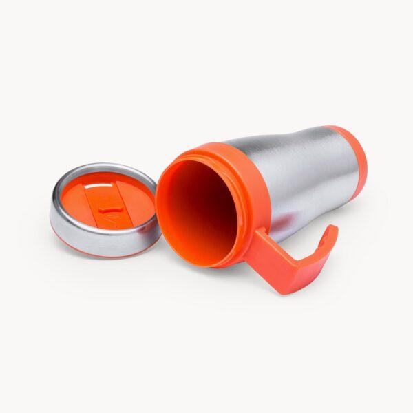 taza-isotermica-acero-inoxidable-450ml-naranja-detalle