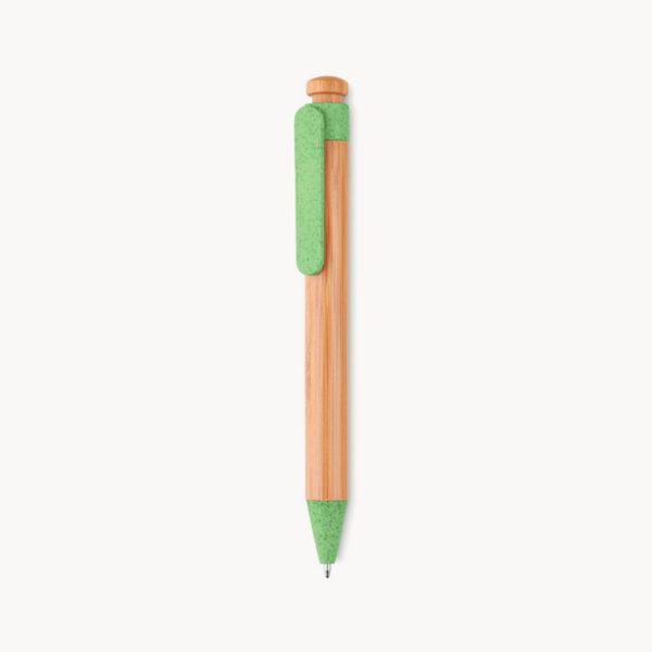 boligrafo-grueso-madera-bambu-verde