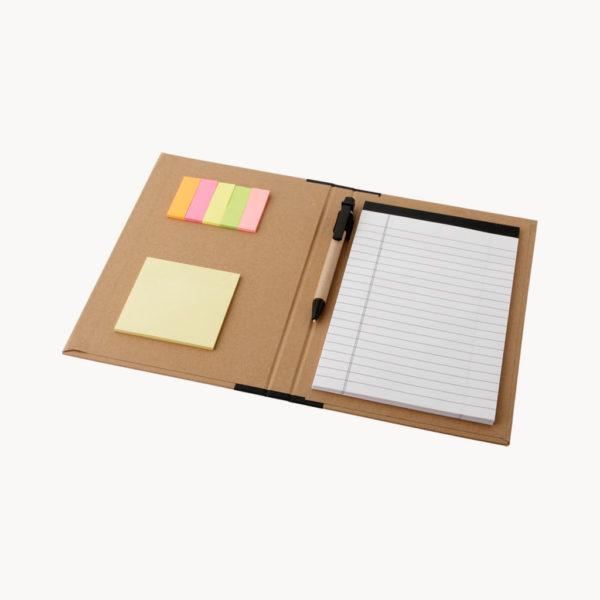 carpeta-carton-bloc-notas-a5-boligrafo-abierto
