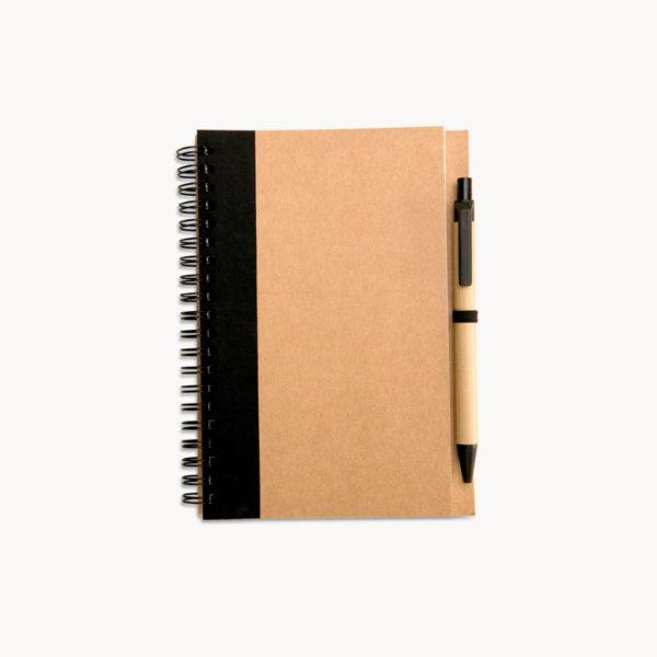 cuaderno-papel-reciclado-boligrafo-negro