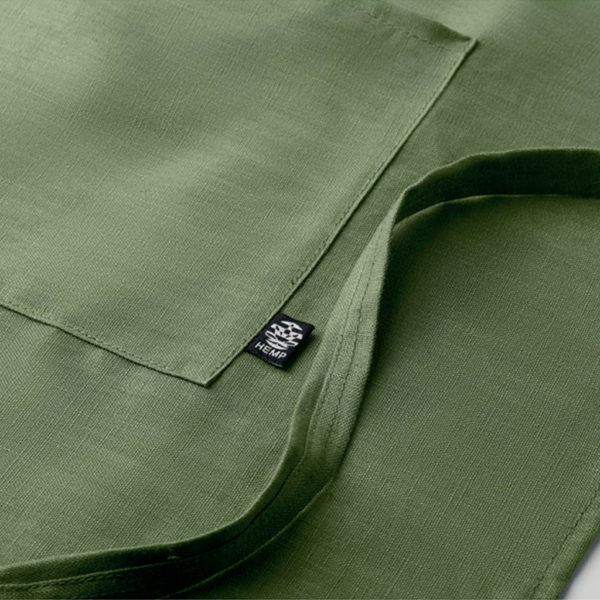 delantal-cañamo-bolsillo-verde-detalle