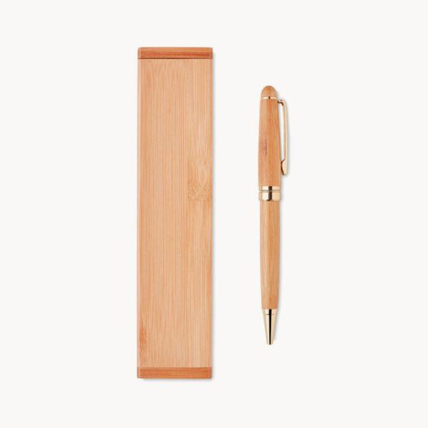 estuche-madera-boligrafo-giratorio-bambu-detalle