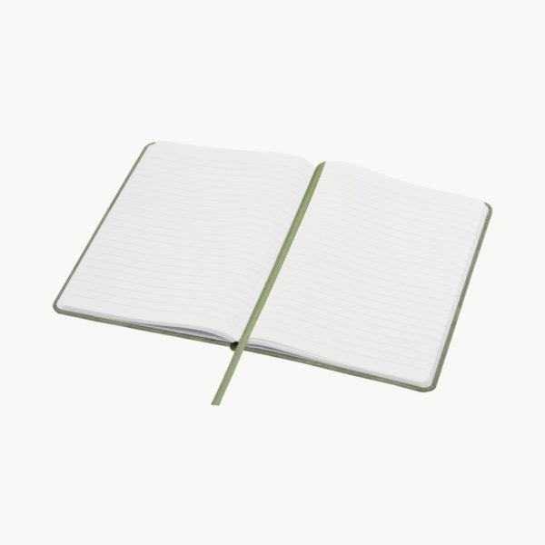 libreta-a5-papel-piedra-verde-abierta
