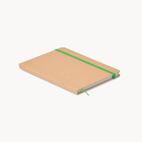 libreta-carton-reciclado-marcapaginas-verde-1