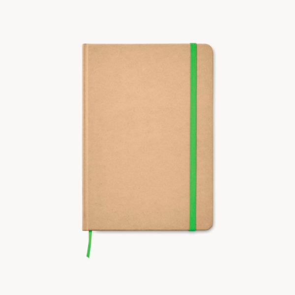 libreta-carton-reciclado-marcapaginas-verde