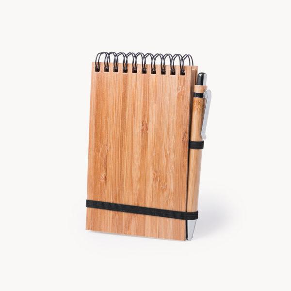 libreta-madera-boligrafo-bambu