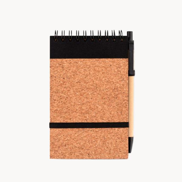 libreta-papel-reciclado-corcho-boligrafo-sostenible