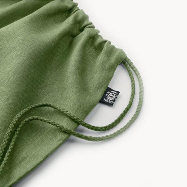 mochila-saco-cañamo-200gr-verde-detalle