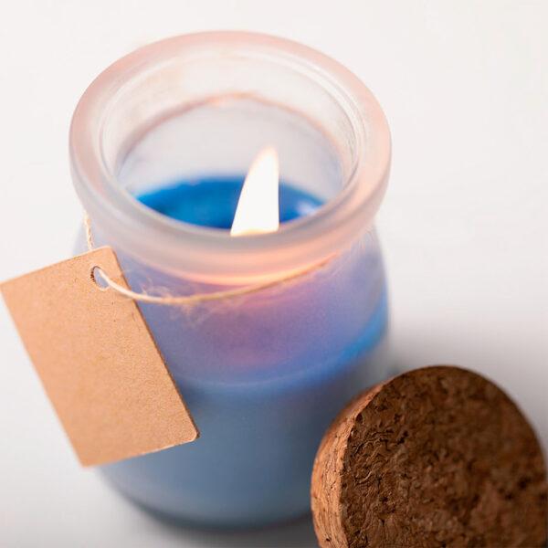 vela-tarro-cristal-corcho-tapon-etiqueta-azul-detalle-1