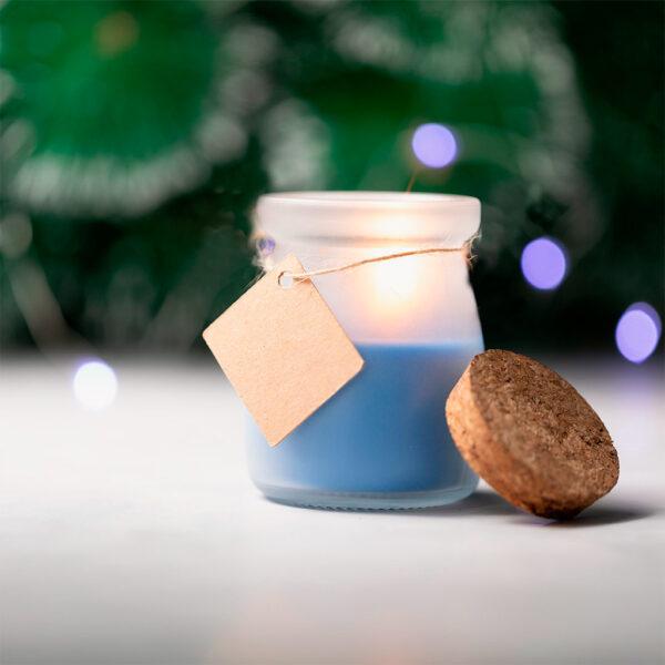 vela-tarro-cristal-corcho-tapon-etiqueta-azul-detalle