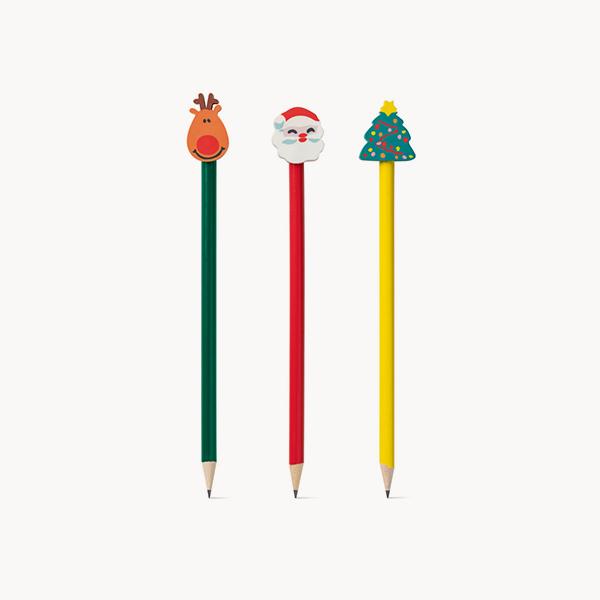 lapiz-navideño-goma-decorativa