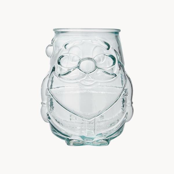 vaso-velas-papa-noel-vidrio-reciclado-transparente-frente